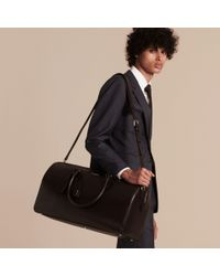Burberry - Purple London Leather Holdall for Men - Lyst