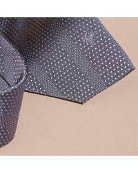 Burberry - Gray Modern Cut Polka Dot Silk Tie for Men - Lyst