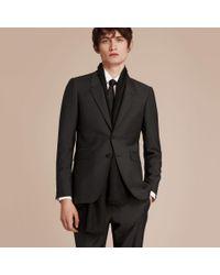 Burberry - Gray The Chelsea – Slim Fit Wool Mohair Suit Dark Grey for Men - Lyst