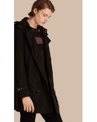 Burberry | Black Showerproof Technical Trench Coat With Detachable Hood for Men | Lyst