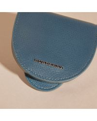 Burberry - London Leather Coin Case Mineral Blue - Lyst