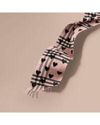 Burberry | Multicolor The Classic Cashmere Scarf In Check And Hearts for Men | Lyst
