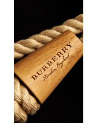Burberry - Blue Double-faced Wool Blend Duffle Coat - Lyst