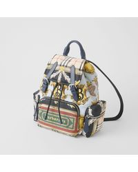 Burberry - Blue The Medium Rucksack In Archive Scarf Print - Lyst