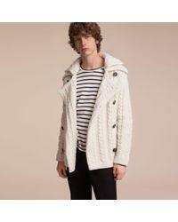 Burberry - Multicolor Aran Knit Technical Cotton Jacket | for Men - Lyst