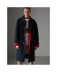 Burberry - Blue Reissued Waxed Cotton Gabardine Car Coat - Lyst