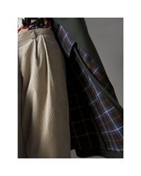 Burberry - Multicolor Crested Button Wool Tailored Coat - Lyst