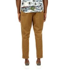 Burton - Natural Camel Carter Tapered Fit Washed Chinos for Men - Lyst