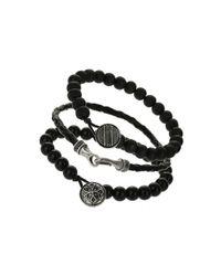 Burton - 3 Pack Black Bracelets for Men - Lyst