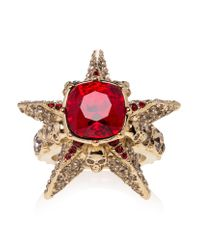 Alexander McQueen | Metallic Star And Skull Ring | Lyst