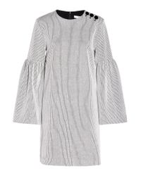 Tibi | Gray Crinkle Knit Dress | Lyst