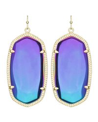 Kendra Scott | Danielle Black Iridescent Earrings | Lyst