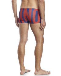 Moschino - Blue Logo Print Swim Trunks for Men - Lyst