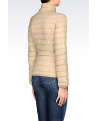 Armani Jeans - Natural Down Coat - Lyst