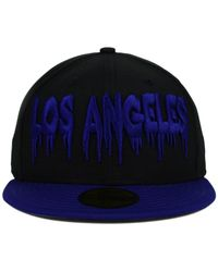 KTZ - Black Los Angeles Dodgers Team Trill 59fifty Cap for Men - Lyst