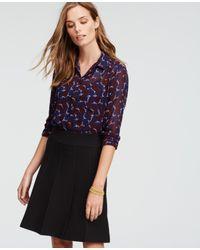 Ann Taylor - Blue Floral Camp Shirt - Lyst