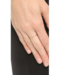 Aurelie Bidermann - Metallic 18k Gold Peace Ring - Gold - Lyst