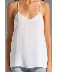 Tibi | White Solid Silk Cami | Lyst