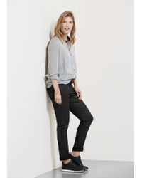 Violeta by Mango - Black Coated Slim-fit Carmen Jeans - Lyst