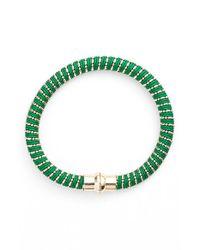 Nu Brand | Green Beaded Bracelet | Lyst