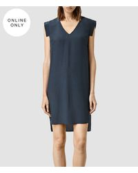 AllSaints | Blue Tonya Vik Dress | Lyst