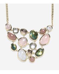 "Cole Haan - Green 17"" Semi-precious Drama Bib Necklace - Lyst"