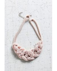 Urban Outfitters | Pink Museum Walls Knotted Necklace | Lyst