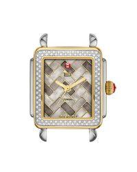 Michele - Metallic 'deco 16 Diamond' Two-tone Watch Case - Lyst