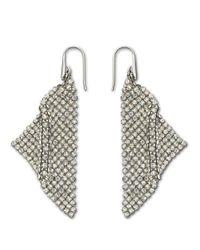 Swarovski | Metallic Crystallized Fit Triangle Pendant Earrings | Lyst
