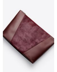 VINCE | Purple Modern V Haircalf Pochette | Lyst