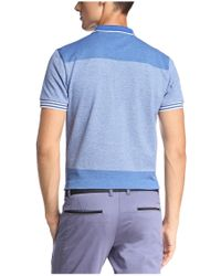 BOSS Green - Blue Slim-fit Textured Polo Shirt 'pedro' for Men - Lyst