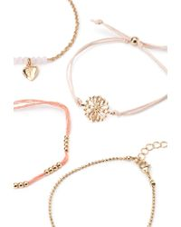 Forever 21 | Metallic Feather Necklace And Bracelet Set | Lyst