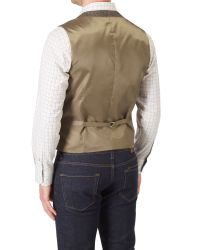 Skopes - Brown Morris Waistcoat for Men - Lyst