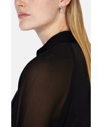 Karen Millen - Metallic Crystal Dot Earring - Lyst