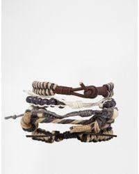 ASOS | Brown Rope Bracelet Pack for Men | Lyst