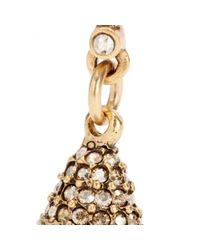 Oscar de la Renta | Metallic Crystal-embellished Earrings | Lyst