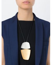 Monies | Yellow Oversized Pendant Necklace | Lyst