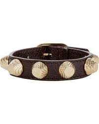 Balenciaga | Brown Arena Giant Stud Bracelet-Colorless | Lyst