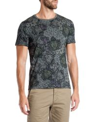 Ted Baker - Gray Othelo Leaf Print T-shirt for Men - Lyst