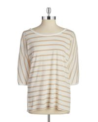 Calvin Klein | Natural Striped Linen Shirt | Lyst