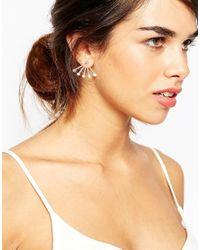 ASOS | Metallic Oversize Crystal Swing Earrings | Lyst