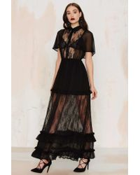 Nasty Gal - Black Luella Lace Maxi Dress - Lyst