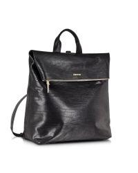 McQ - Black Embossed Leather Knapsack for Men - Lyst