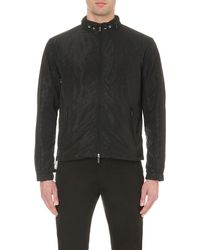 Armani Jeans | Black All Over Logo Shell Bomber Jacket for Men | Lyst