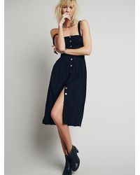 Free People - Black Girlfriend Material Dress - Lyst