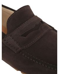A.Testoni - Brown Suede Driving Shoes for Men - Lyst