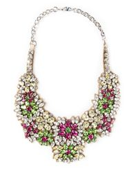 Valentino | Multicolor Embellished Bib Necklace | Lyst