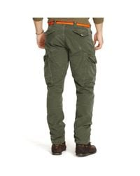 Polo Ralph Lauren - Green Cotton Chino Cargo Pant for Men - Lyst