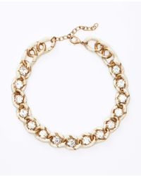 Ann Taylor - Natural Crystal Ribbon Wrapped Short Necklace - Lyst