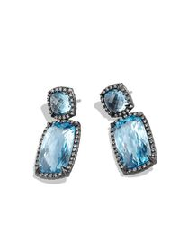 David Yurman - Blue Chatelaine Double-drop Earrings With Diamonds - Lyst